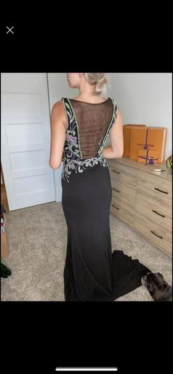 Vienna Black Size 4 Pageant Straight Dress on Queenly