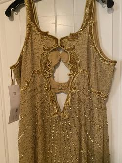 Gold Size 18 Side slit Dress on Queenly