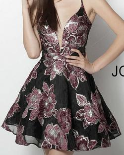 Jovani Multicolor Size 4 Print Cocktail Dress on Queenly