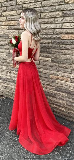 Sherri hill Red Size 0 Prom A-line Dress on Queenly