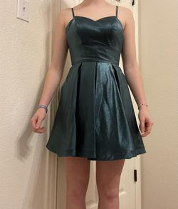 Sherri Hill Green Size 2 Polyester Lace A-line Dress on Queenly
