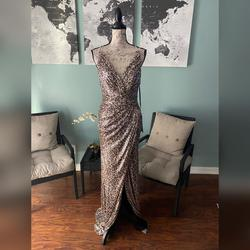 Cinderella Divine Multicolor Size 10 Pageant Backless Wedding Guest Mermaid Dress on Queenly