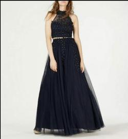 Say Yes to the Prom Blue Size 12 Plus Size Polyester Ball gown on Queenly