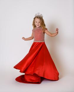 One More Couture Red Size 0 Girls Size A-line Dress on Queenly