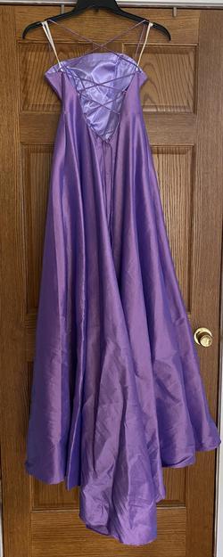 Alyce Paris Purple Size 4 Train Dress on Queenly