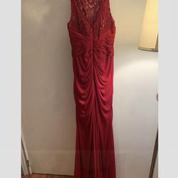 David's Bridal Red Size 2 Lace Straight Dress on Queenly