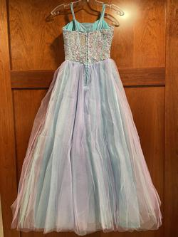 DEB Blue Size 0 Girls Size Ball gown on Queenly