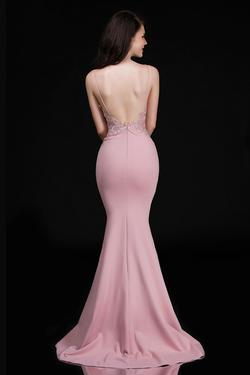 Style 3154 Nina Canacci Pink Size 12 Bridesmaid Lace Mermaid Dress on Queenly