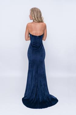 Style 2185 Nina Canacci Blue Size 2 Sequin Mermaid Dress on Queenly