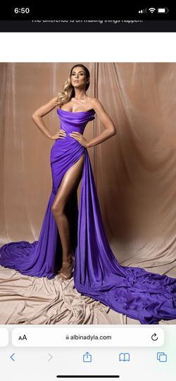 albina dyla Purple Size 8 Side slit Dress on Queenly