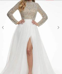 Asheley Lauren White Size 4 Ball gown on Queenly