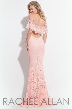 Style 2019 Rachel Allan Light Pink Size 6 Mermaid Dress on Queenly