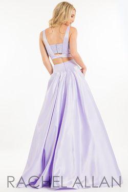 Style 2111 Rachel Allan Purple Size 8 Silk Ball gown on Queenly