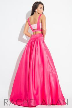 Style 2111 Rachel Allan Pink Size 4 Silk Ball gown on Queenly