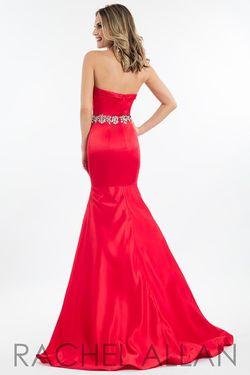 Style 2123 Rachel Allan Red Size 6 Mermaid Dress on Queenly