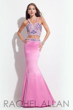 Style 7225RA Rachel Allan Light Pink Size 2 Magenta Mermaid Dress on Queenly