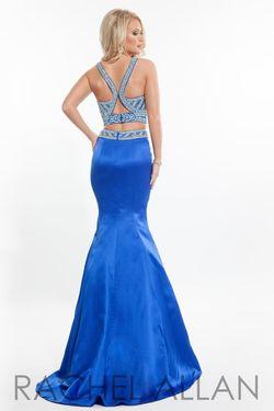 Style 7225RA Rachel Allan Blue Size 6 Mermaid Dress on Queenly