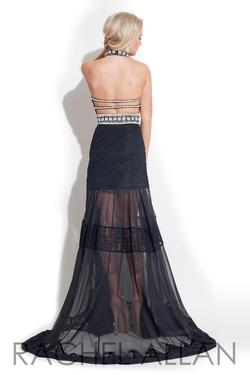 Style 7235RA Rachel Allan Black Size 4 Fun Fashion Pageant A-line Dress on Queenly