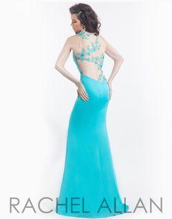 Style 6817 Rachel Allan Green Size 8 Jersey Mermaid Dress on Queenly