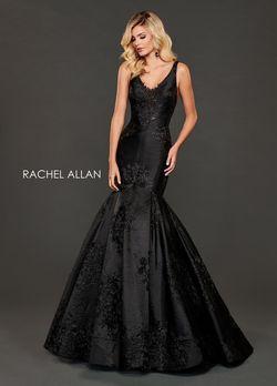Style 8417 Rachel Allan Black Size 12 Plus Size Mermaid Dress on Queenly