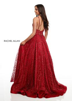 Style 7111 Rachel Allan Red Size 12 Ball gown on Queenly