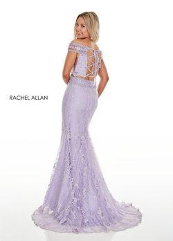 Style 7007 Rachel Allan Purple Size 8 Pageant Side slit Dress on Queenly