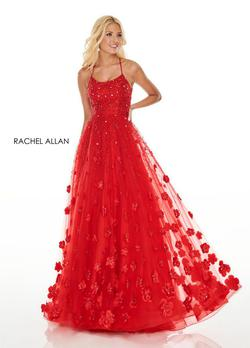 Style 7049 Rachel Allan Red Size 6 Ball gown on Queenly