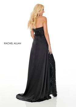 Style 7102 Rachel Allan Black Size 2 Fun Fashion Strapless Jumpsuit Dress on Queenly
