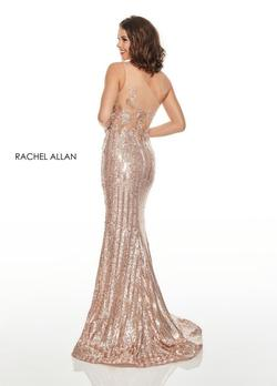 Style 7121 Rachel Allan Gold Size 2 Sequin Jewelled Mermaid Dress on Queenly