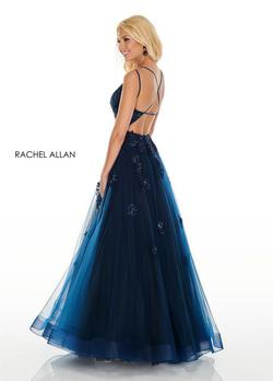 Style 7122 Rachel Allan Blue Size 6 Ball gown on Queenly