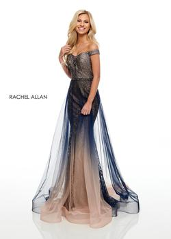 Style 7164 Rachel Allan Purple Size 8 Shiny Mermaid Dress on Queenly