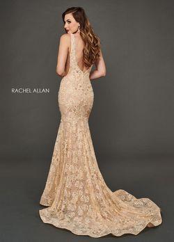 Style 8388 Rachel Allan Gold Size 8 Mermaid Dress on Queenly