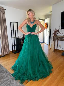 Sherri Hill Green Size 4 Custom Ball gown on Queenly