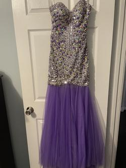 Partytime Purple Size 2 Prom Mermaid Dress on Queenly