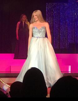 Sherri Hill Blue Size 4 Custom Ball gown on Queenly