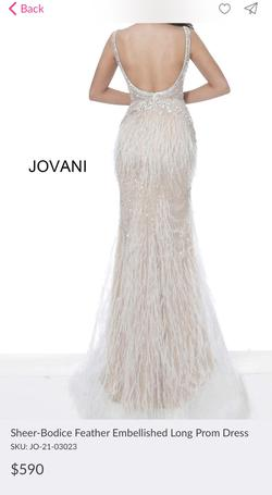 Jovani White Size 12 Plus Size Mermaid Dress on Queenly