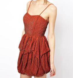 French Connection Orange Size 2 Homecoming Jewelled Sequin Cocktail Dress on Queenly