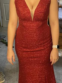Jovani Red Size 6 Mermaid Dress on Queenly