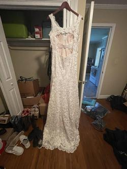 Maggie Sottero Hope White Size 8 Lace Mermaid Dress on Queenly