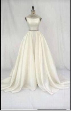 Jovani White Size 6 Pageant Corset Train Dress on Queenly