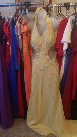 Gold Size 12 A-line Dress on Queenly