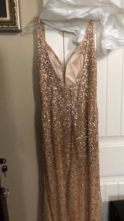 Gold Size 12 Side slit Dress on Queenly