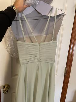 Azazie Green Size 2 Ball Gown Bridesmaid Straight Dress on Queenly