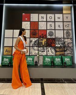 Jovani Orange Size 2 Pageant Jumpsuit Dress on Queenly