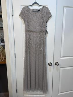 adrianna papell Silver Size 2 A-line Dress on Queenly