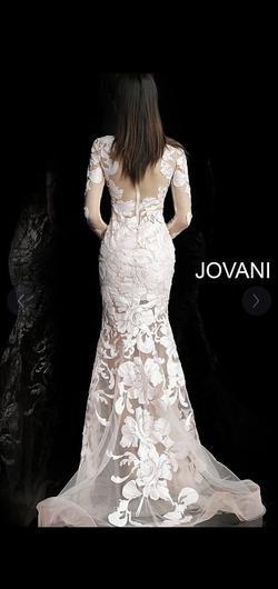 Jovani Nude Size 12 Mermaid Dress on Queenly