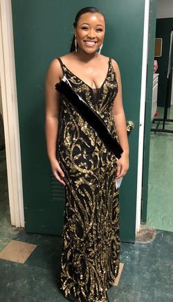 Primavera Black Size 12 Mermaid Dress on Queenly