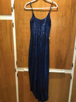 Style  CC10145 Nicole Miller Blue Size 6 Pageant Straight Dress on Queenly