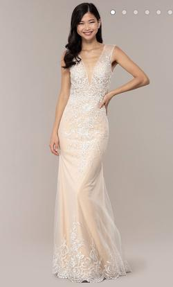 Jovani Nude Size 12 Plus Size Mermaid Dress on Queenly
