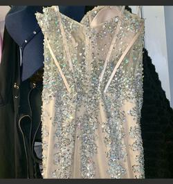 Jovani Nude Size 10 Corset Prom Mermaid Dress on Queenly